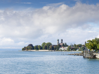 View to the lake Bodensee at Friedrichshafen