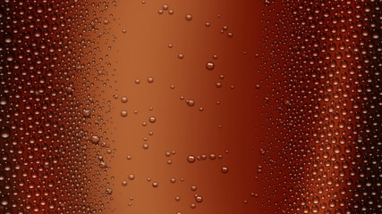 Glass of cola with droplets (seamless loop) + alpha matte