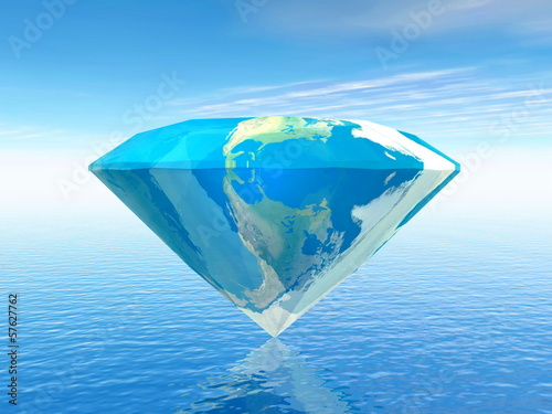 Earth is a diamond - 3D render