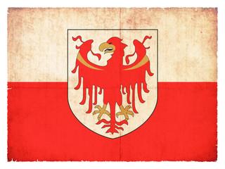 Grunge-Flagge Südtirol (Italien)