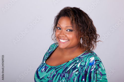 African American woman smiling - Black people