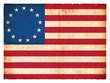 Historische Grunge-Flagge der USA