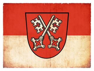 Grunge-Flagge Regensburg (Bayern, Deutschland)