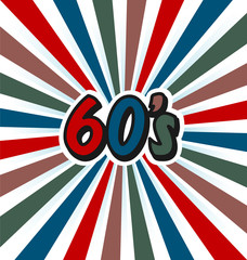 60s Vector Vintage Art Background