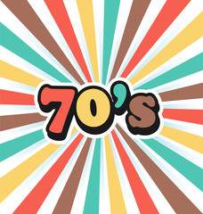 70s Vintage Art Background