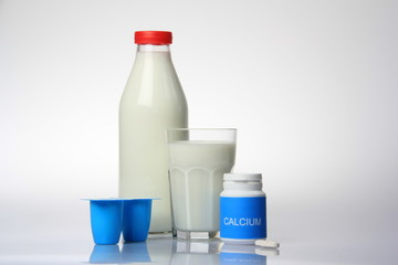 Milk Bottle , Milk, Yogurt,Calcium