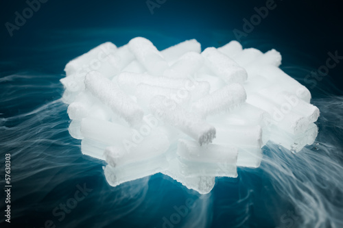 dry ice with vapour