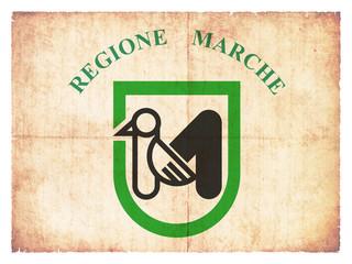 Grunge-Flagge Marken (Italien)
