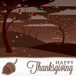 Field of trees Thanksgiving card in vector format.