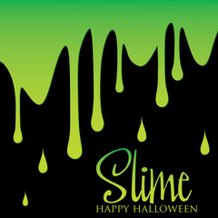 Slime card in vector format.