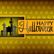 Haunted house Halloween card in vector format.