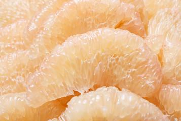 peeled pomelo pieces fruit