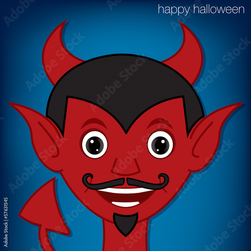 Lucifer cartoon character in vector format.