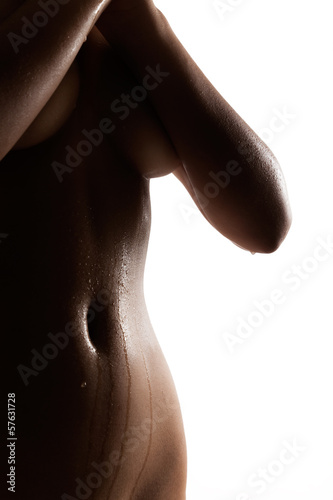 Tempting silhouette of sexy indian female