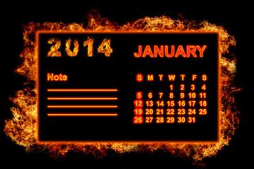 Fire Calendar January 2014