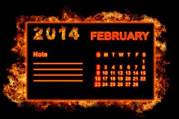 Fire Calendar February 2014