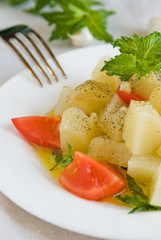 salad with mint