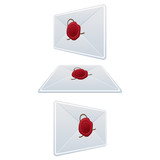Set Envelope With Wax Seal