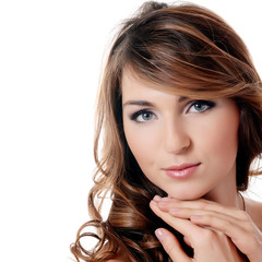 The beautiful woman. A photo of the beautiful sensual woman with