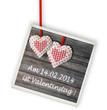 Valentinstagsdatum - Hinweis auf Anhänger