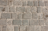 Seamless tileable texture of paving slabs the sand poster