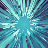 3d abstract fantastic ice crystal background - 57636509