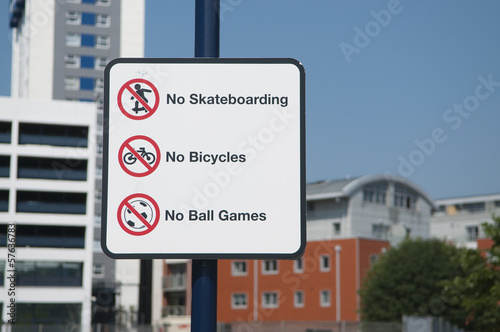 Urban prohibitions