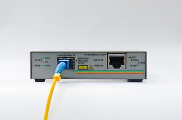 technology center with fiber optic