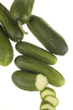 .pickles on a white background