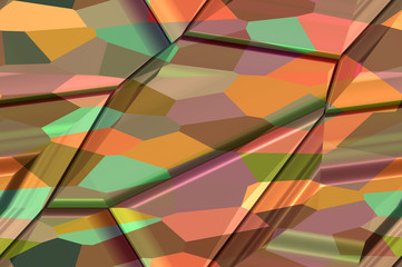 Abstract textured background - fancy polyhedrons 3.