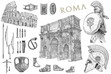 Rome set illustration