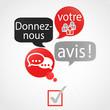 bulles rouge gris : donnez votre avis (français)