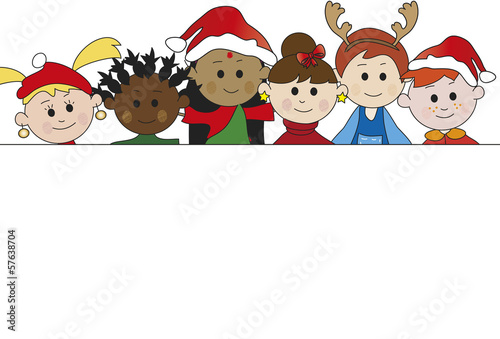 children banner for christmas