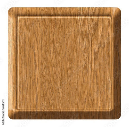 wooden sign board, on white background