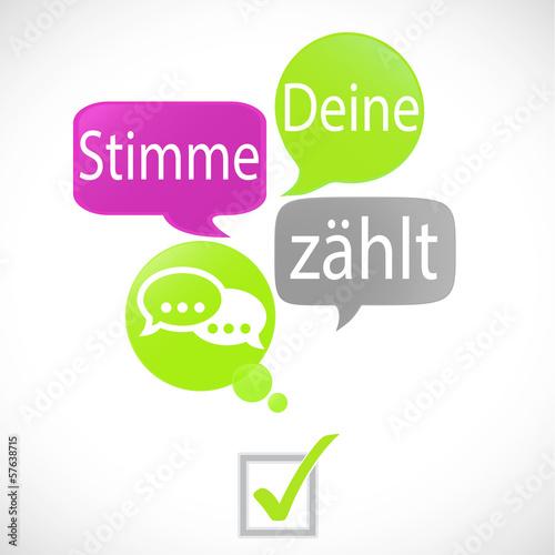 bulles vert fuchsia : stimme deine zahlt (allemand)