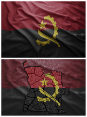 Angolan flag and map collage