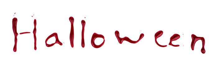 Halloween bloody text