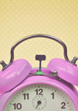 Retro purple clock