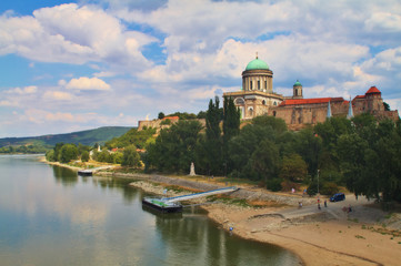 View of an Esztergom Basilica, Hungary