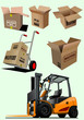 Delivery equipment collection. Vector illustration for designers