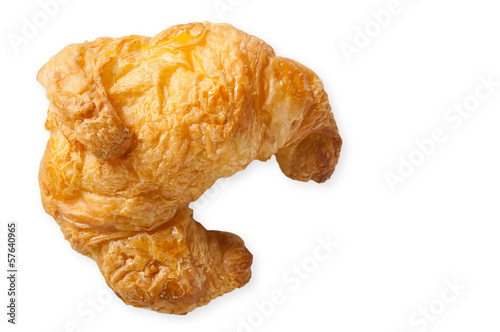 Butter croissant served with the coffee