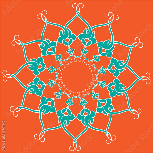 Ornamental round lace, circle ornament.