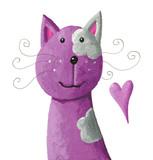 Fototapety Cute purple cat