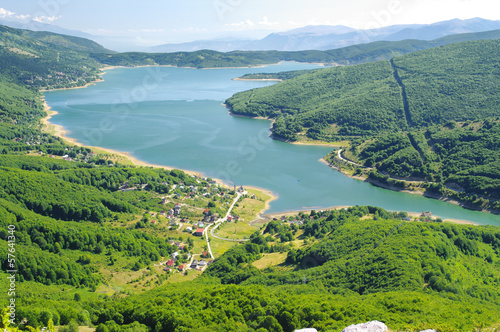 Mavrovo Lake In The National Park, Republic Of Macedonia