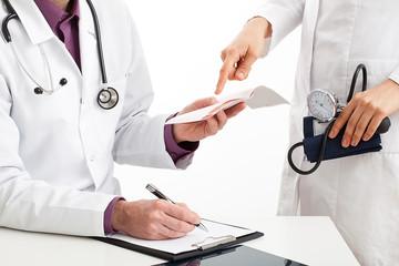 Doctors conversation