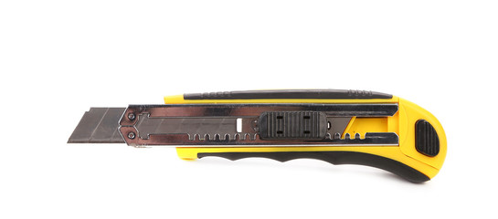 Yellow office knife.