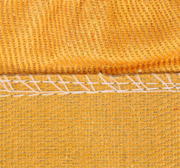 Texture of cloth with stitch.