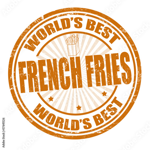 French fries stamp
