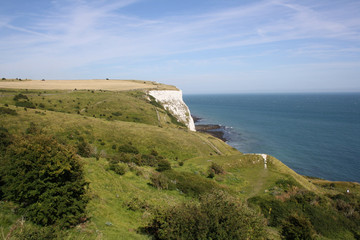 View at white cliffs of Dover