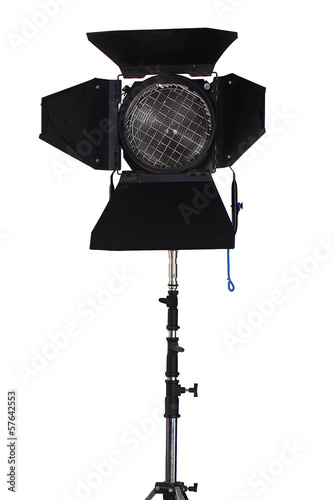 A vintage spotlight isolated on a white background